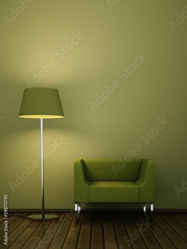 wohndesign gr ner sessel stockfotos und lizenzfreie. Black Bedroom Furniture Sets. Home Design Ideas