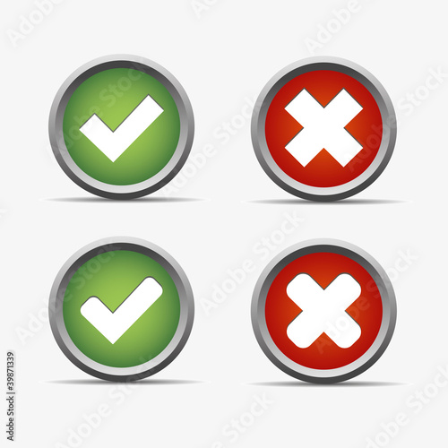 Instant Yes Button : Quot ja nein yes no rot grün kreis kugel rund button haken ok
