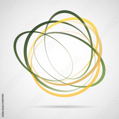 quotabstrakt gr252n gelb vektor rings logo zeichen baum garten