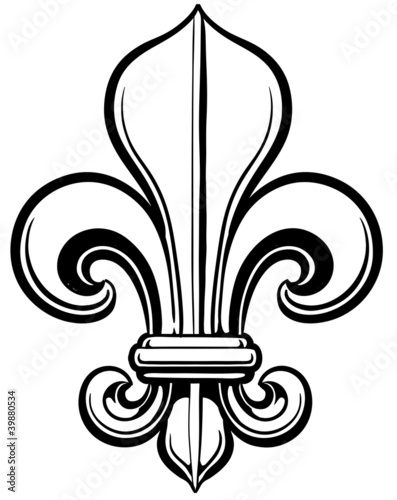 Bone Fleur De Lys Stock Image And Royalty Free Vector Files On