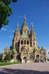 Peter and Paul's cathedral, Petergof, KOLONISTSKY park, church