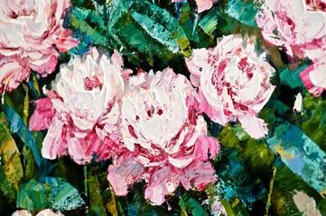 Цветы на картине.