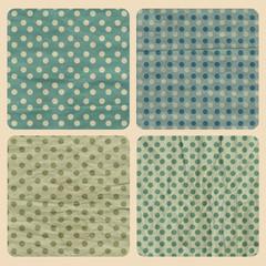 set with vintage pattern