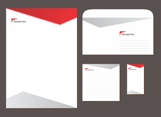 template with logo, blank, note, visiting card and envelope
