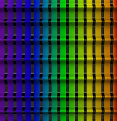 Wall Mural - Abstract 3d background - rainbow colors