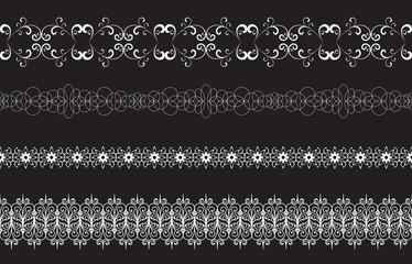 Seamless borders on black