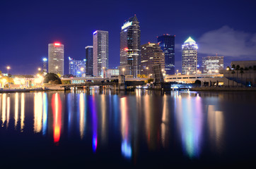 Tuinposter Dubai Tampa Bay Skyline