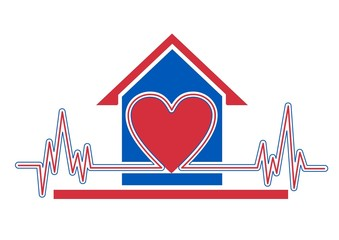 An illustration of home health care icon
