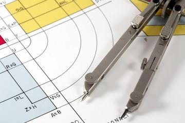 disegno tecnico con compasso