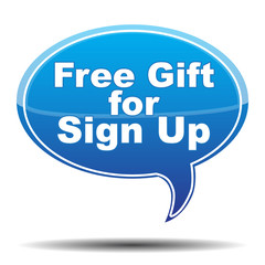 FREE GIFT FOR SIGN UP ICON