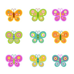 Retro Butterfly Set