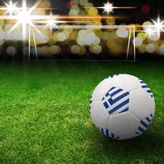 Greece flag on 3d football