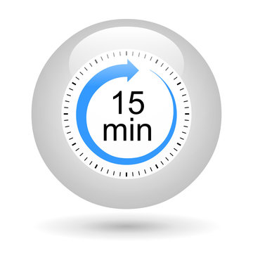 Bouton icône minuterie - 15 minutes