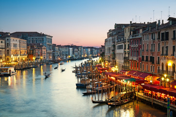 Keuken foto achterwand Venetie Grand Canal after sunset, Venice - Italy