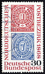 Postage stamp Germany 1968 Reproduction of stamps