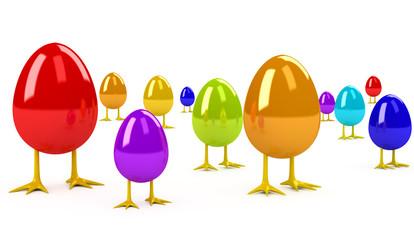 Easter Egg over white background
