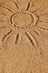 The sun on sand