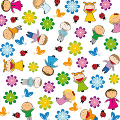 Poster Lieveheersbeestjes Kids background