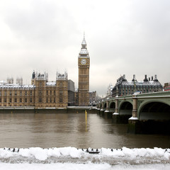 Wall Mural - Snow Covered Westminster