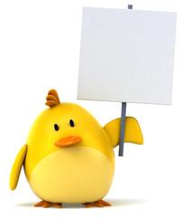 Papier Peint - Oiseau jaune