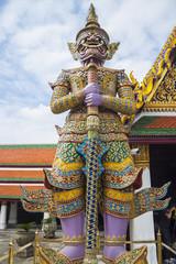 A giant statue of Wat Pra Kaew
