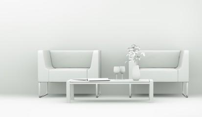 Modell - Sessel mit Tisch