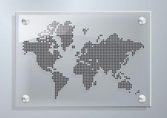 Poster Carte du monde MONDE_Plexi