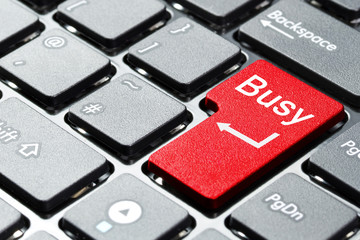 Red busy button on the keyboard