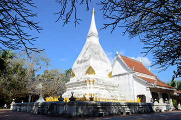 The ancient pagoda and architecture in temple at Thailand.