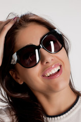 Young Woman In The Sunglasses