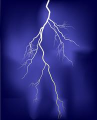 bright lightning in lilac sky illustration