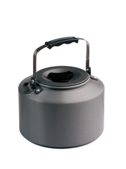 Camping kettle isolated on the white