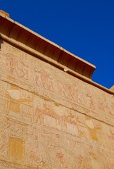 The wall in temple of Karnak