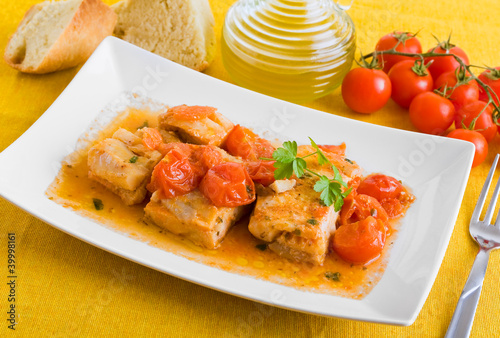 Треска с помидорами рецепты фото