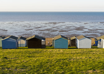 Seascape and Beach Huts