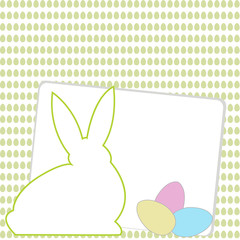 Happy Easter card with room for text