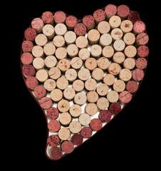 Cork Heart Background