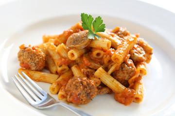 Meatball and Sausage Pasta