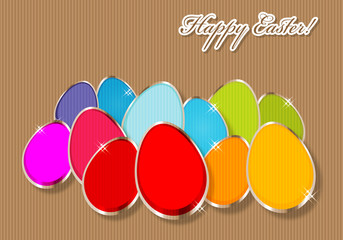 Happy Easter Vintage Pop-ART Eggs
