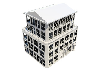 Abstract model of five storey building