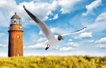 Fototapete - Leuchtturm