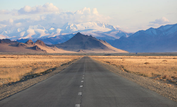 road in the mountains of Mongolia