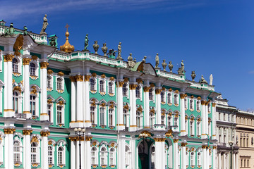 Russia. Petersburg. A view on the Hermitage