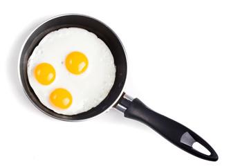Fond de hotte en verre imprimé Ouf Fried egg in pan