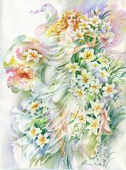 Białe lilie