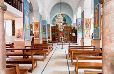 interior of Greek Orthodox Basilica of Saint George