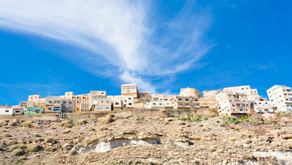 town Kerak on stone hill, Jordan