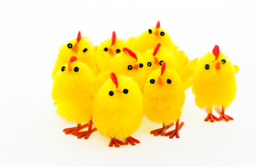 group of easter chickens