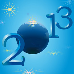 Symbols of 2013 New Year and Earth
