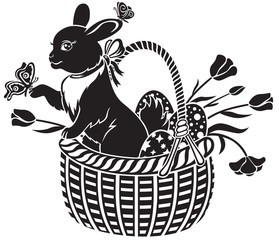 basket with the hare